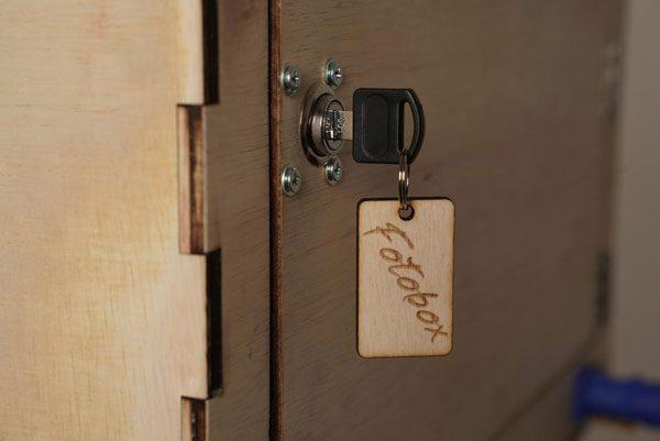 Fotobox mit Schlüssel